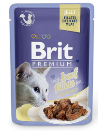 BRIT Premium Cat Fillets in Jelly vită 85 g