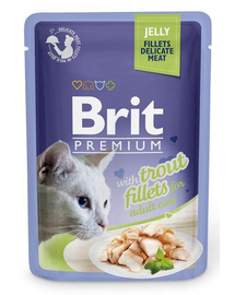 BRIT Premium Cat Fillets in Jelly păstrăv 85 g