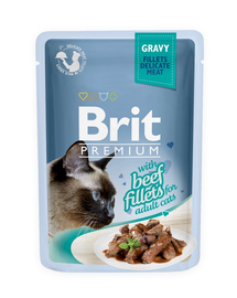 BRIT Premium Cat Fillets in Gravy vită 85 g