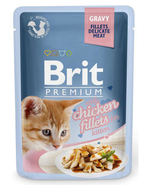 BRIT Premium Cat Fillets in Gravy Kitten cu pui 85g