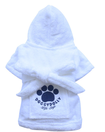 DOGGY DOLLY Halat cu imprimeu, alb, XXL 68-69 cm/104-106 cm