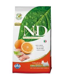 FARMINA N&D Adult Mini pește și portocale 7 kg