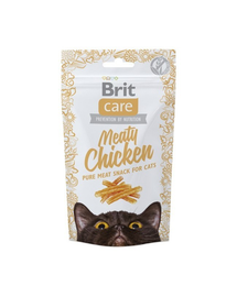 BRIT Care Cat Snack Meaty Chicken cu Carne de Pui 50g