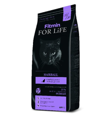 FITMIN Cat For Life Hairball – pentru rase cu blana lungă 8 kg
