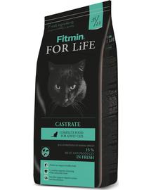 FITMIN For Life Pisici Castrate/Sterilizate - cu Carne de Pasăre și Orez 8 kg