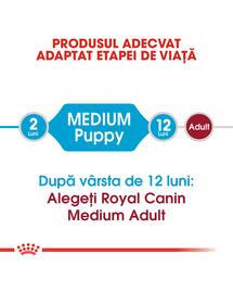Royal Canin Medium Puppy Hrană Uscată Câine 15 kg + 3 kg gratis