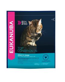 EUKANUBA Cat Senior All Breeds Top Condition Chicken & Liver 0.4 kg