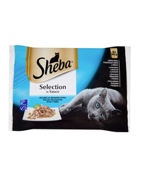 SHEBA Selection in Sauce mix de pește 4 x 85 g