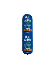 BRIT Sausage cu pui, curcan și mazăre 800 g