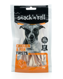 SNACK & ROLL Chicken and Fish Twists 70 g