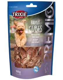 TRIXIE Recompense PREMIO Rabbit Cubes cu iepure 100g