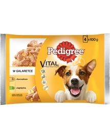 PEDIGREE Vital Protection Carne de Pasăre și Miel în Aspic 13 x 400 g