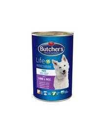 BUTCHER'S Life pate cu miel și orez 1200 g