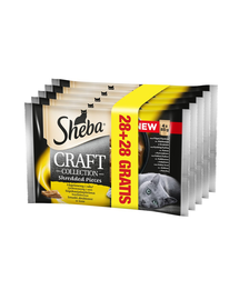 SHEBA Craft Collection Carne de Pasăre în Sos 85 g 28+28 GRATIS