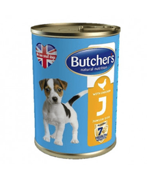 BUTCHER's Junior cu bucăți de pui în jeleu 400 g