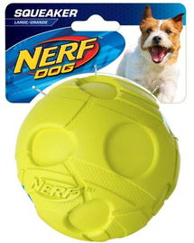 NERF Squeaker Minge de fotbal M verde / albastru