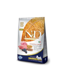 N&D Low Grain mini cu miel și afine 7 kg