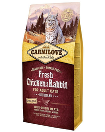 CARNILOVE Fresh Adult Cat cu Pui si Iepure 2 kg