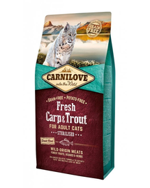 CARNILOVE Adult Sterilised Fresh crap și păstrăv 6 kg