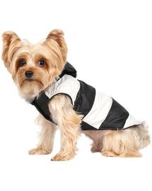 Doggy Dolly Haină de iarnă impermeabilă pentru câini, alb/negru, M 28-30 cm/41-43 cm