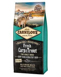 CARNILOVE Adult - Hrană uscată pentru câini cu păstrăv și crap proaspăt 12 kg