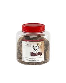 O'CANIS Biscuiți cu carne de struț și semințe de in 400 g