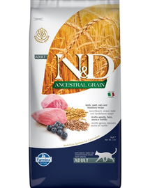 FARMINA N&D Low Grain Adult cu miel și afine 5 kg