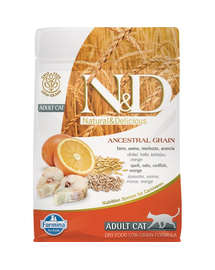 FARMINA N&D Adult Cat Low Grain cod și portocale 5 kg