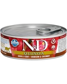 FARMINA N&D Hrană pentru pisici adulte - quinoa, vânat & cocos - 80 g