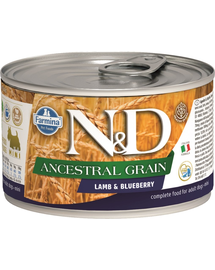 FARMINA N&D Dog ancestral grain lamb & blueberry mini 140 g