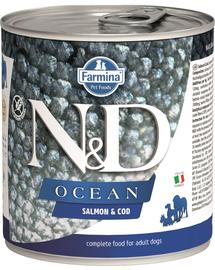 FARMINA N&D Ocean Adult - Hrană umedă cu somon și cod 285 g