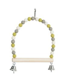 ZOLUX Leagăn Perle cu stâlp din lemn și clopoței