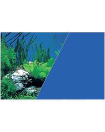 ZOLUX Fundal cu două fețe pentru acvariu 50 x 80 cm plante roci / albastru