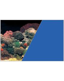 ZOLUX Fundal cu două fețe pentru acvariu 40 cm x 15 M recif de corali negru /albastru