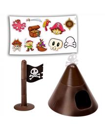 FERPLAST Criceti 9 Cușcă pentru rozătoare mici, tematica pirați