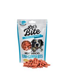 BRIT Let's Bite Meat Snacks bucăți de ton și cod 80 g