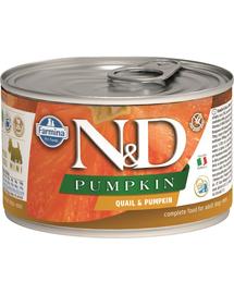 FARMINA N&D Pumpkin - Hrană umedă pentru câini cu dovleac și prepeliță 140 g