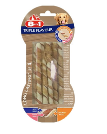 8IN1 Bastoane răsucite Triple Flavour 10 buc.