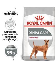 Royal Canin Medium Dental Care Adult hrana uscata caine reducerea formarii tartrului, 10 kg