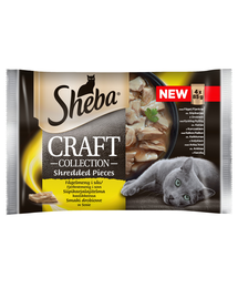SHEBA Craft Collection cu carne de pasăre în sos 4x85g