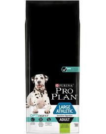 PURINA PRO PLAN OptiDigest Adult Large Athletic - Hrană uscată pentru câini cu probleme digestive 16.5 kg