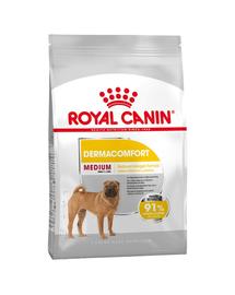 Royal Canin Medium Dermacomfort hrana uscata caine pentru prevenirea iritatiilor pielii, 10 kg