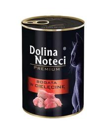 DOLINA NOTECI Premium Bogată în carne de vițel - pentru pisici adulte 400 g