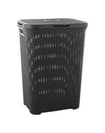 CURVER Coș haine RATTAN STYLE 60 L gri inchis