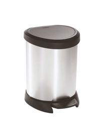 CURVER Coș de gunoi 5 L negru/argintiu metalizat