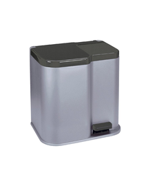 CURVER Coș de gunoi DUO PEDALBIN argintiu/gri închis