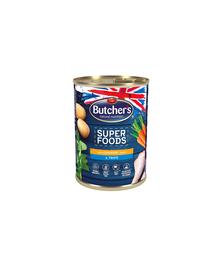 BUTCHER'S Dog Superfoods pate cu măruntaie și carne de pui 400 g