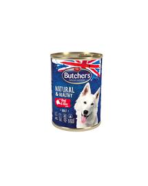 BUTCHER'S Dog Natural&Healthy pate cu vită și orez 390 g