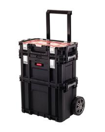 CURVER Set de cutii pentru depozitare Connect Rolling System negru/roșu