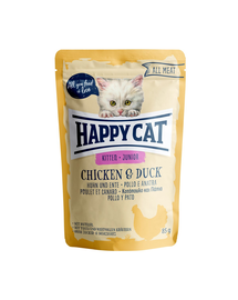 HAPPY CAT All Meat Junior, pui și rață 85 gr